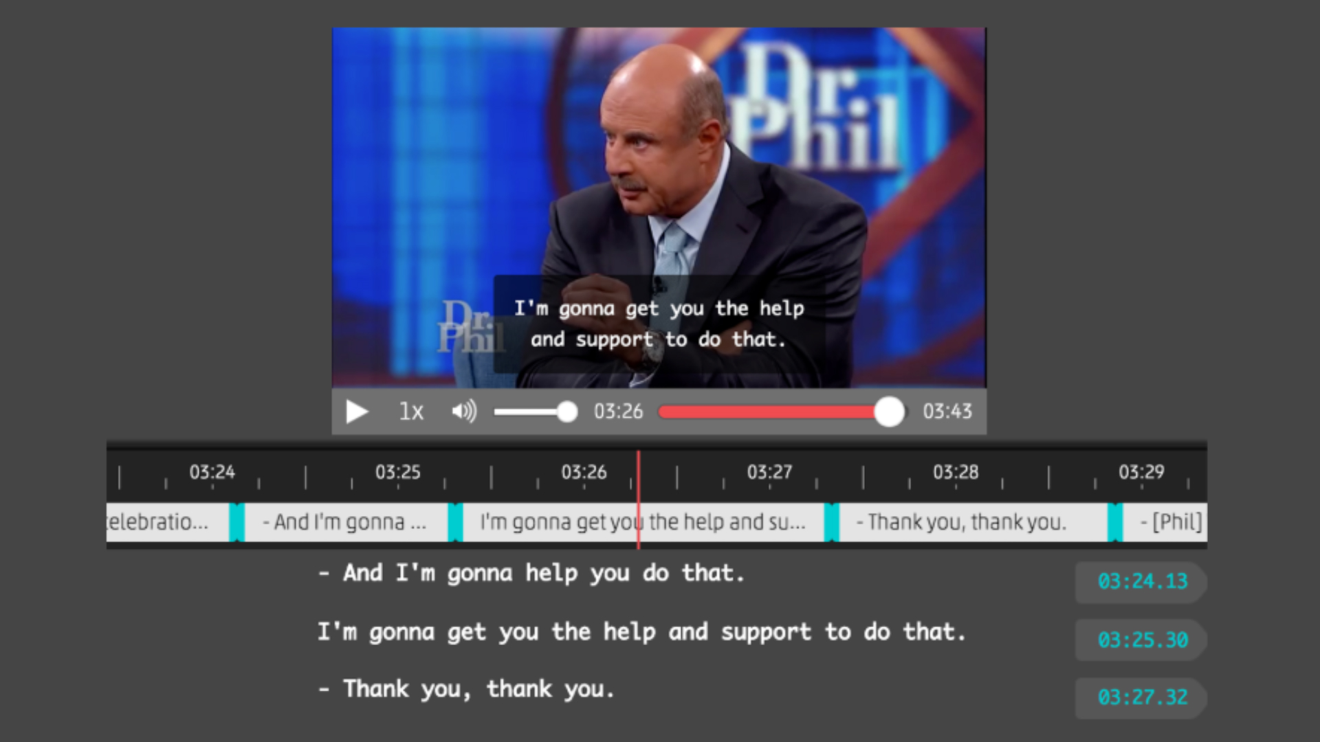 Web Closed Captioning